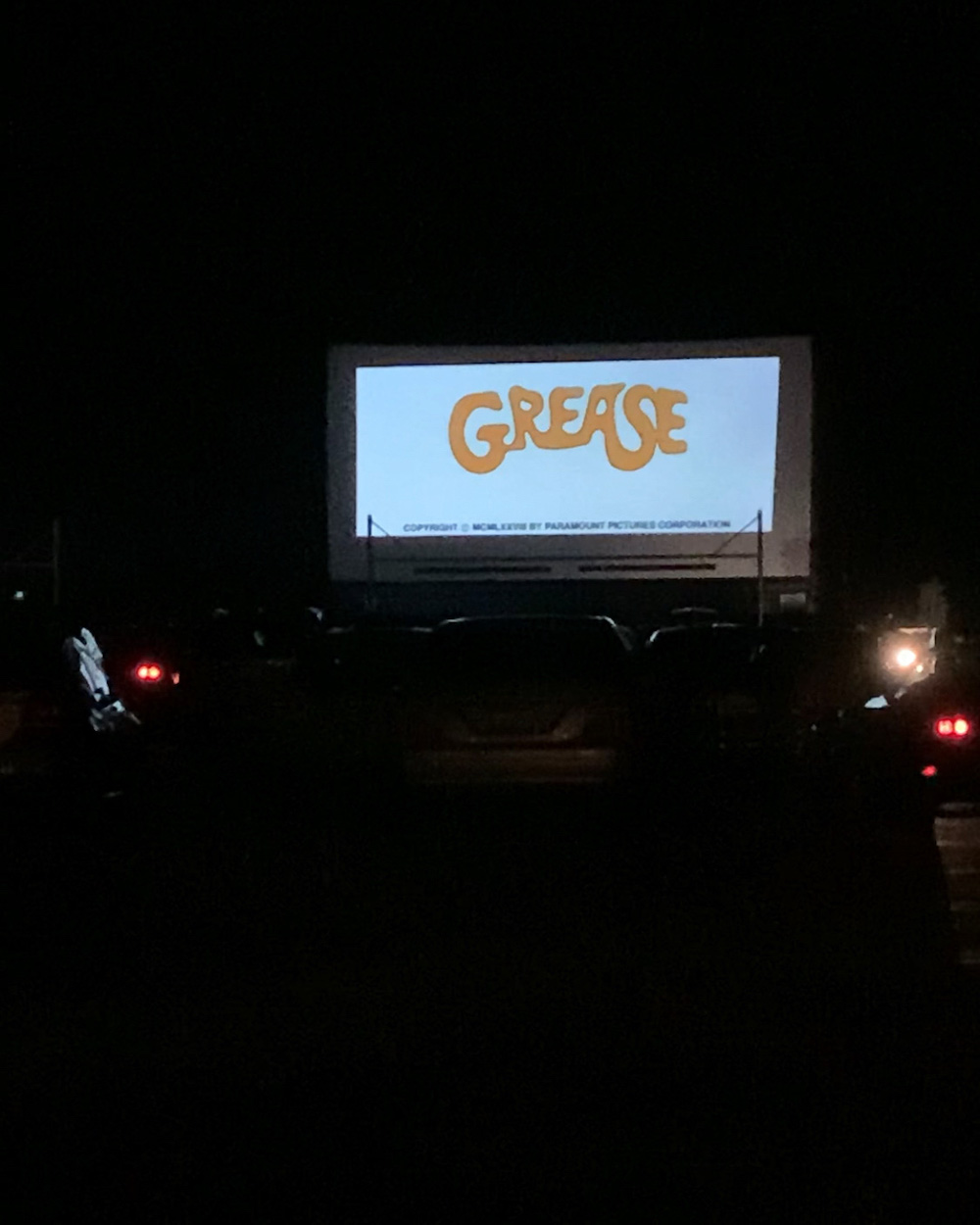 grease drive in movie