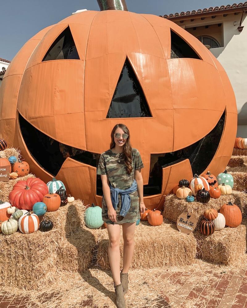 Outlets at San Clemente gigantic jack pumpkin